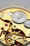 Uhr getrennt auf weißem backgr Stockfotografie