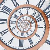 Uhr im drost Effekt stockfoto