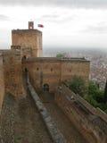 Uhr-Kontrollturm - Alhambra Lizenzfreies Stockfoto