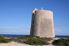 Uhr-Kontrollturm Ibiza lizenzfreie stockbilder