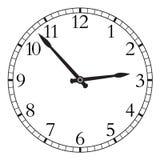 Uhr lokalisiert auf einem weißen Hintergrund. Stockfotografie