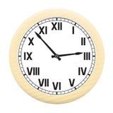 Uhr lokalisiert auf einem weißen Hintergrund. Lizenzfreie Stockbilder
