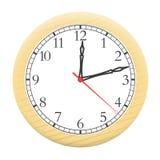 Uhr lokalisiert auf einem weißen Hintergrund. Stockfoto