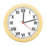 Uhr lokalisiert auf einem weißen Hintergrund. Lizenzfreies Stockfoto
