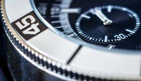 Uhr-Makro Stockbild