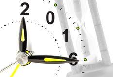 Uhr mit 2016 Lizenzfreies Stockfoto
