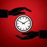 Uhr mit in der Hand vektor abbildung