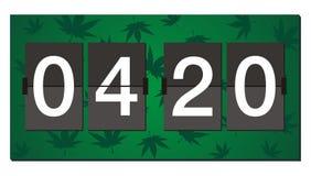 Uhr mit 420 Flippern - Brandzeit Lizenzfreies Stockfoto