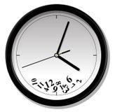 Uhr mit gestolperter Ziffer Lizenzfreie Stockfotos