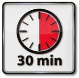 Uhr mit 30 Minuten Stockbilder