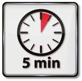 Uhr mit 5 Minuten stock abbildung