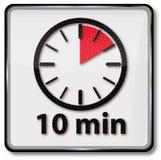 Uhr mit 10 Minuten lizenzfreie abbildung
