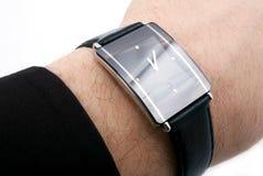 Uhr mit vier Diamanten Stockfotos