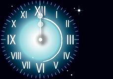 Uhr-neues Jahr Lizenzfreies Stockbild