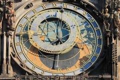 Uhr Orloj in Tschechischer Republik Prags lizenzfreie stockfotografie