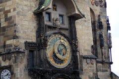 Uhr Prag Orloy 3 Stockbild