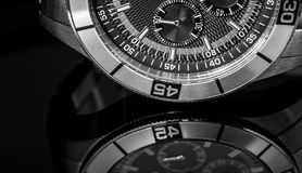 Uhr-Reflexion Stockfotos