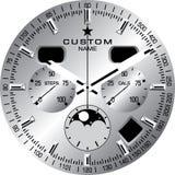 Uhr-Schablone C stockfoto