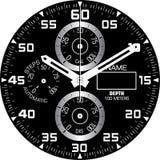 Uhr-Schablone H stockbild