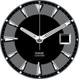 Uhr-Schablone J lizenzfreie stockfotografie