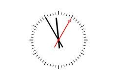 Uhr-Skala zeigt Zeit 5 vor 12 Lizenzfreies Stockfoto