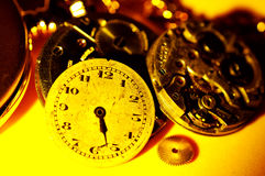 Uhr-Teile lizenzfreies stockfoto