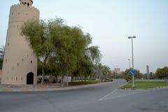 Uhr-Turm, Kreuzung, Al Maqta, Abu Dhabi Stockfoto