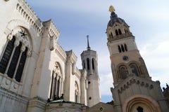 Uhr-Turm Lyon Stockbild