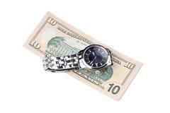 Uhr und Banknote Stockbilder