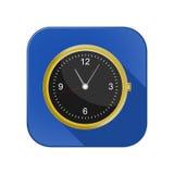 Uhr und ein Handy in einem Stockfotos