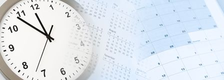 Uhr und Kalender lizenzfreie stockfotografie