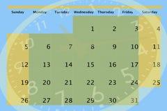 Uhr und Kalender Stockfotografie
