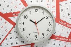 Uhr und Kalender Stockbilder