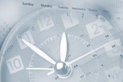 Uhr und Kalender stockbild