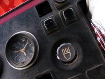 Uhr und Knöpfe Stockbild