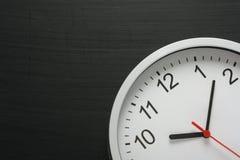 Uhr und Tafel Lizenzfreies Stockfoto