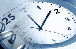 Uhr und Tagebuch Stockfotos