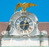 Uhr von Schonbrunn-Palast stockfotos
