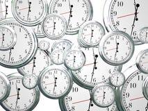 Uhr-Zeit, die das Marschieren auf den zukünftigen Fortschritt vorwärts sich bewegt verstreicht Stockfotografie