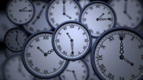 Uhren, die in der hohen Geschwindigkeit ticken lizenzfreie abbildung