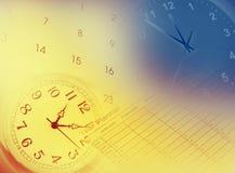 Uhren, Kalender und Jahrplaner Stockfoto