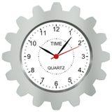 Uhren mit Metall übersetzen - ein Symbol eines Zeit machi Lizenzfreie Stockfotos