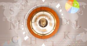 Uhren mit Welt setzen fest und finanzieren Zeit Geschäftskonzeptes Stockbilder
