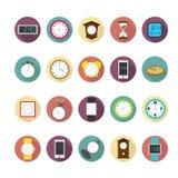 Uhren und Zeitikonen eingestellt Illustration eps10 lizenzfreie abbildung