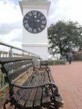 Uhrfokus-Bankwald stockfoto