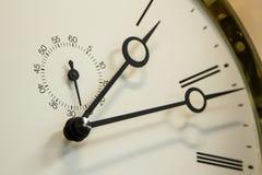 Uhrgesicht mit zweitem hand& stockbild