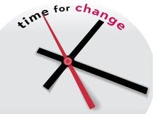 Uhrhände sagen Zeit für eine Änderung Lizenzfreie Stockfotografie