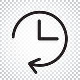 Uhrikonenillustration r Einfacher Bus Lizenzfreie Stockbilder