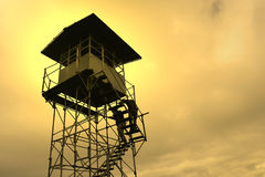Uhrkontrollturm Stockbild