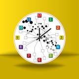 Uhrkonzeptideen-Hintergrundvektor lizenzfreie abbildung